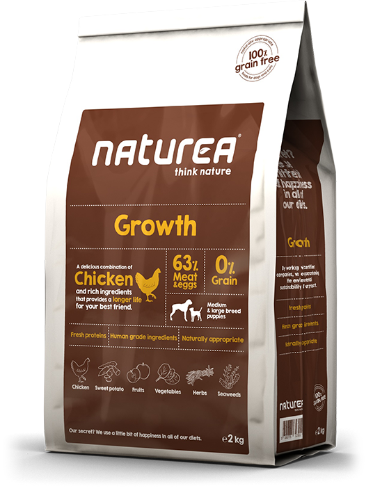 Naturea Graanvrij Dog Growth - Kip