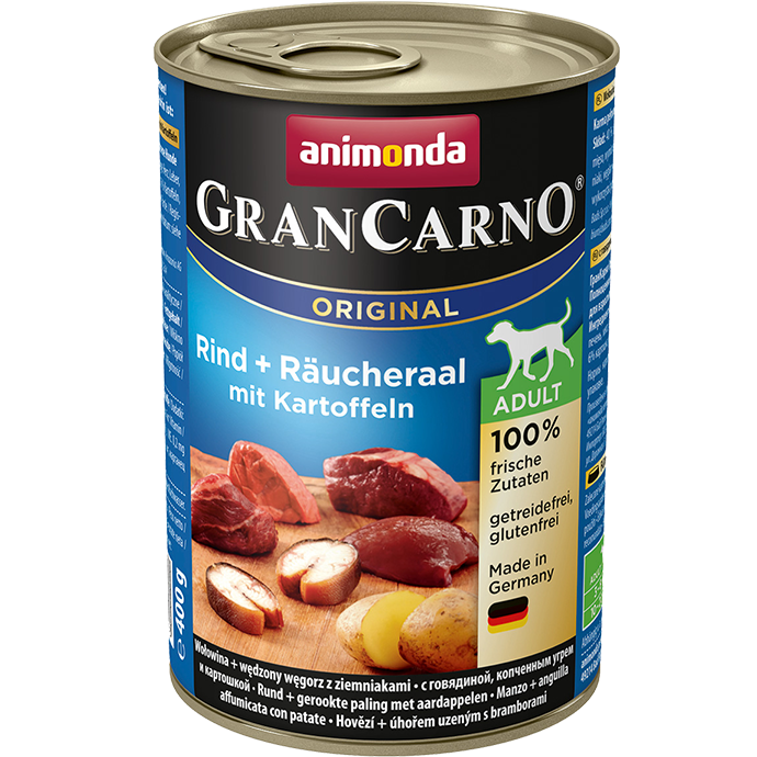 Grancarno Adult Rund, Gerookte paling & Aardappel (per tray)