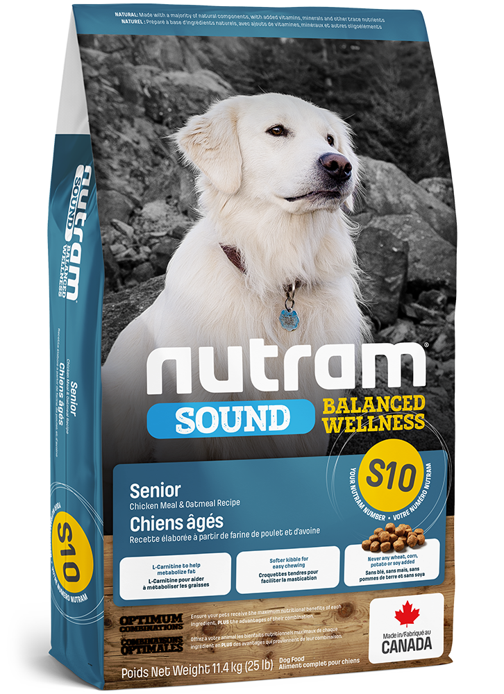 Nutram Dog Senior S10 - Kip - SOUND