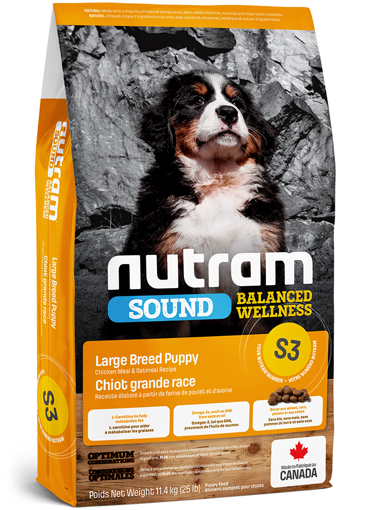 Nutram Puppy Large Breed S3 - Kip - SOUND