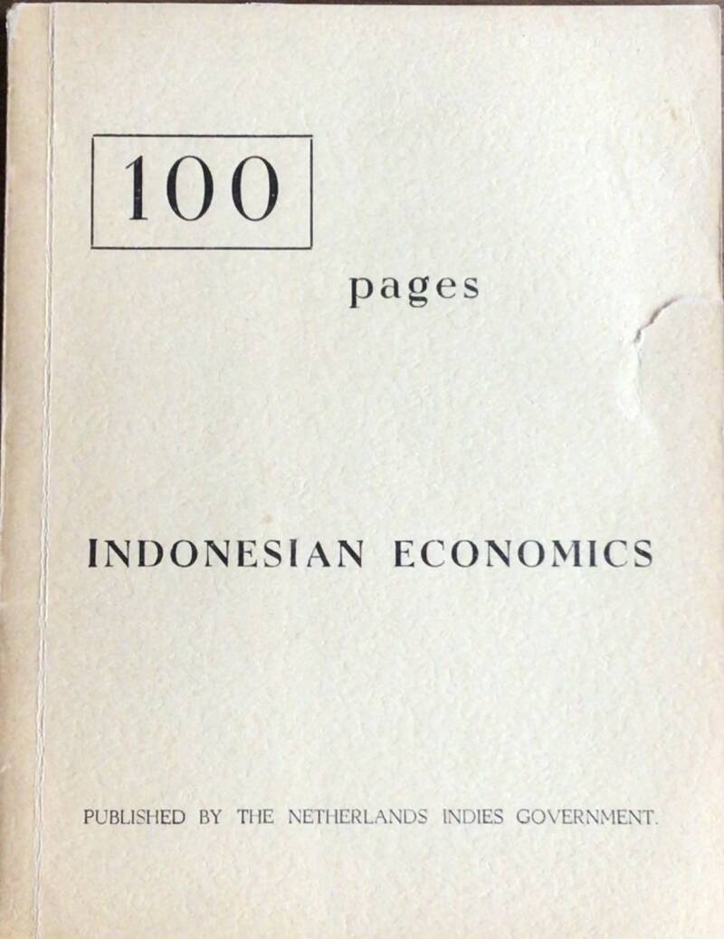 100 pages Indonesian Economics