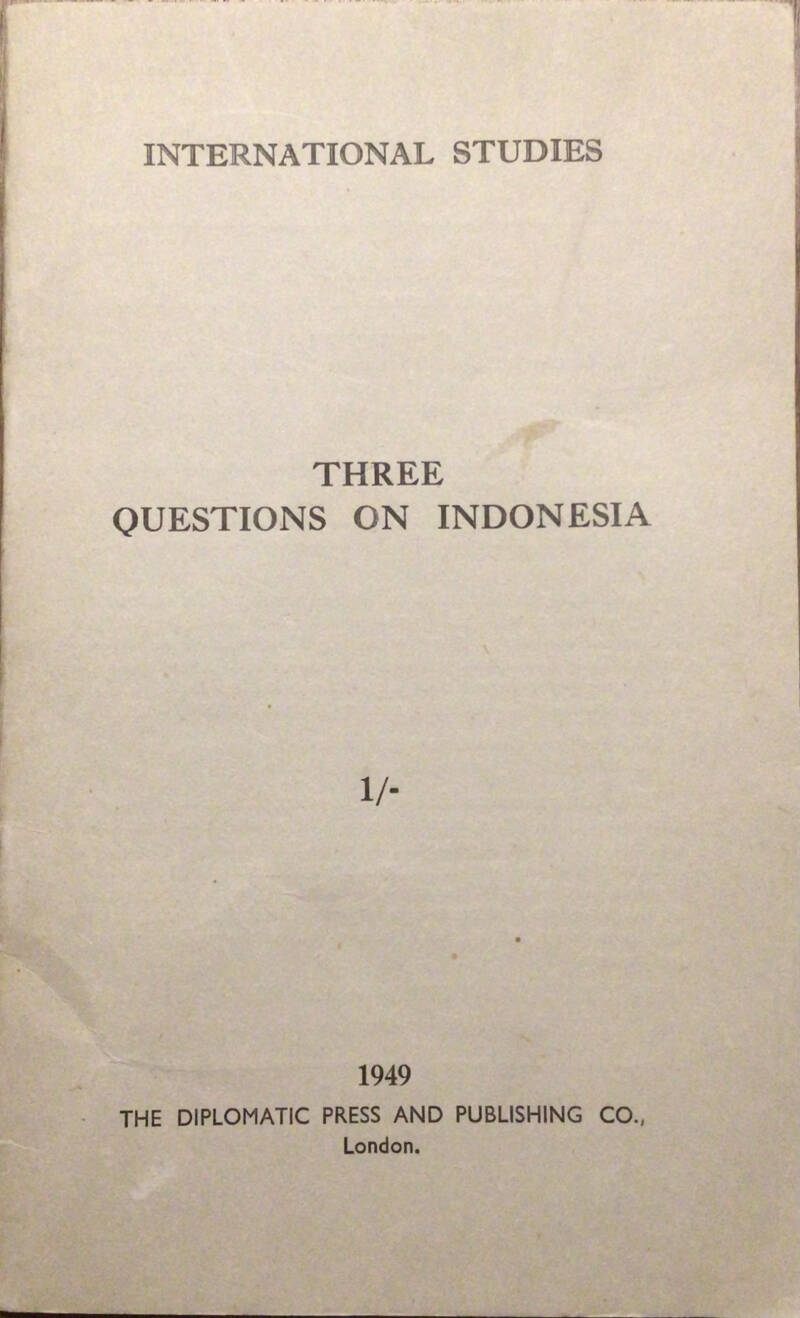 Three questions on Indonesia