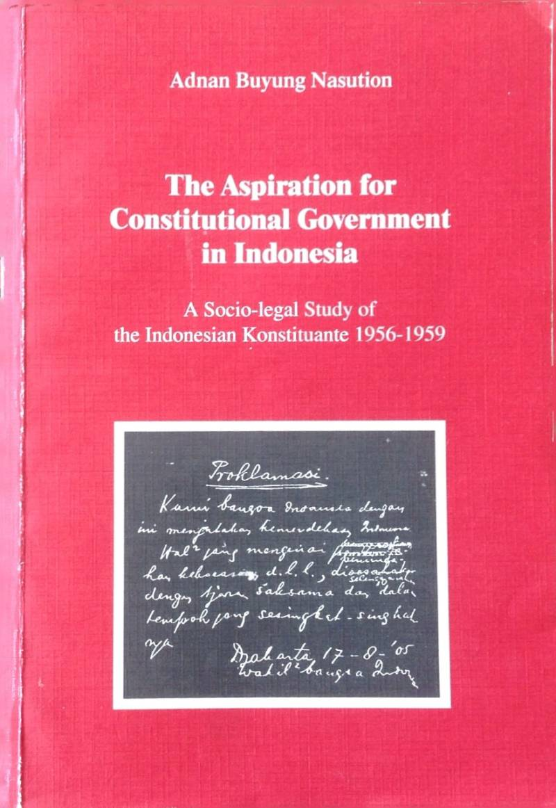 The Aspiration constitutional government - A.B. Nasution