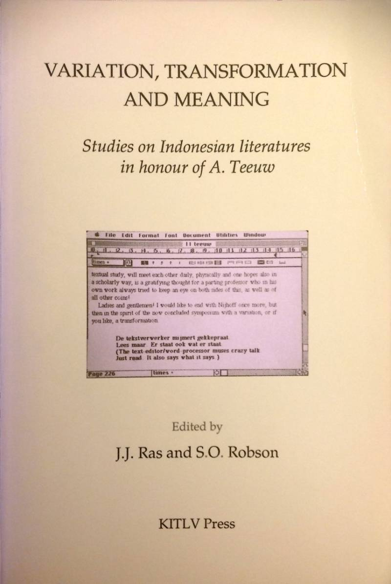 Variation transformation and meaning - J.J. Ras and S.O. Robson