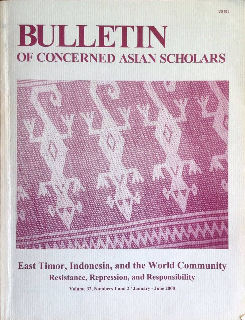 Bulletin of concerned Asian scholars - East timor, Indonesia, and the world Community