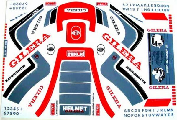Gilera Stickerset Helm