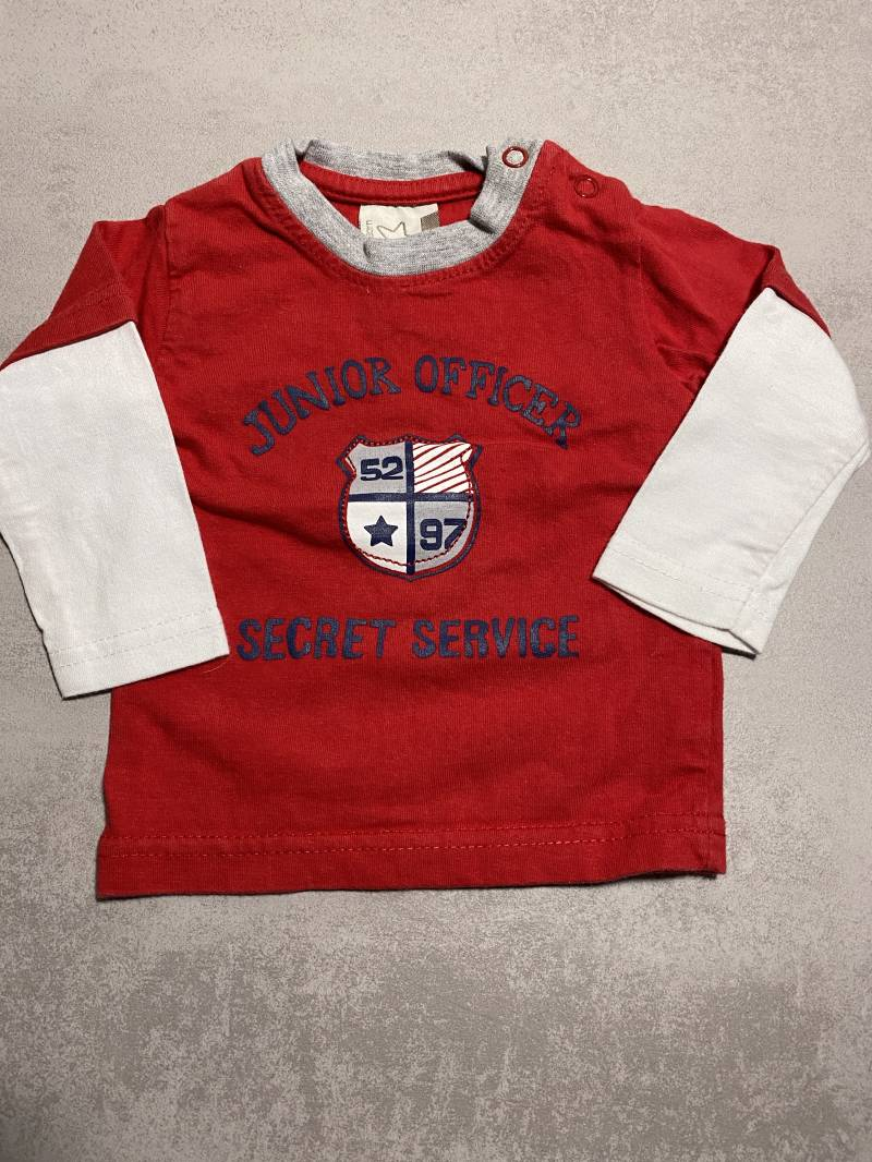 Junior officer shirt rood maat 56 jongen
