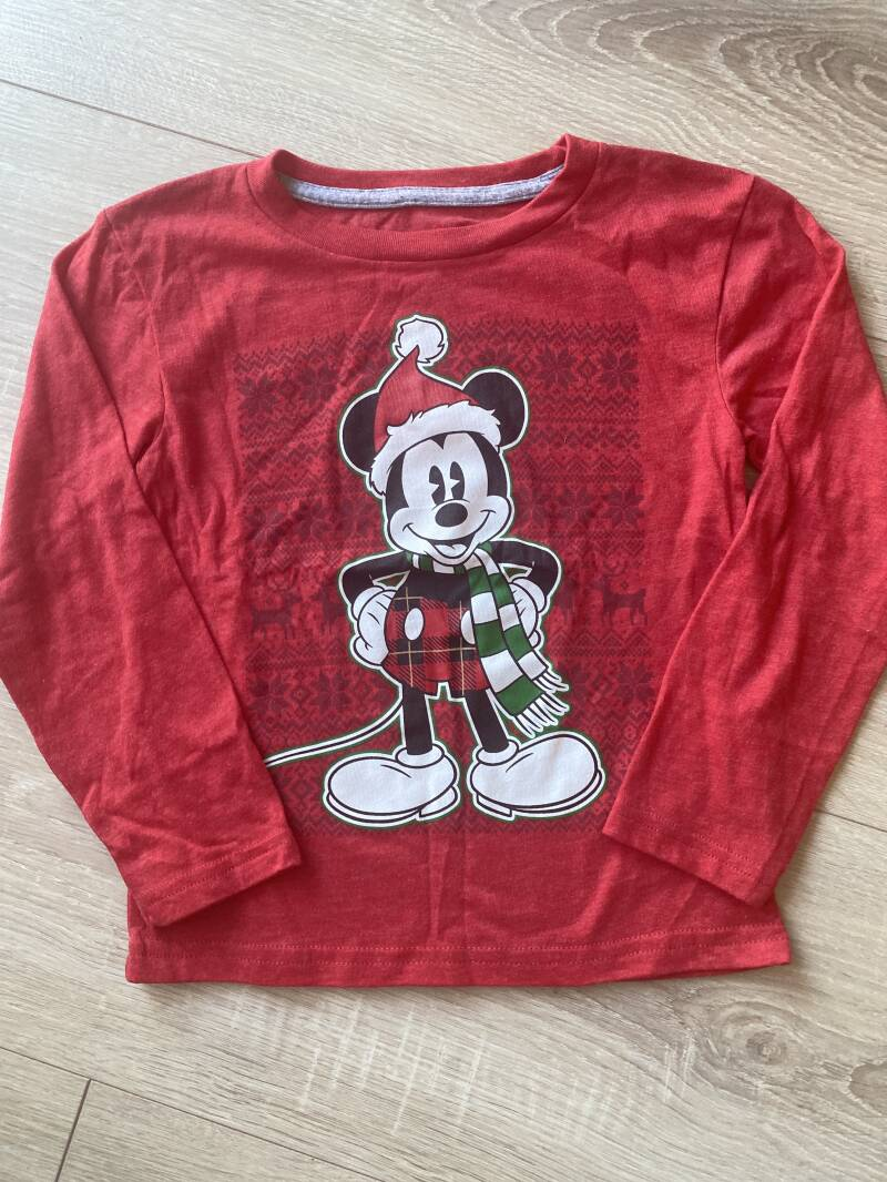 Mickey mouse shirt kerst maat 4T