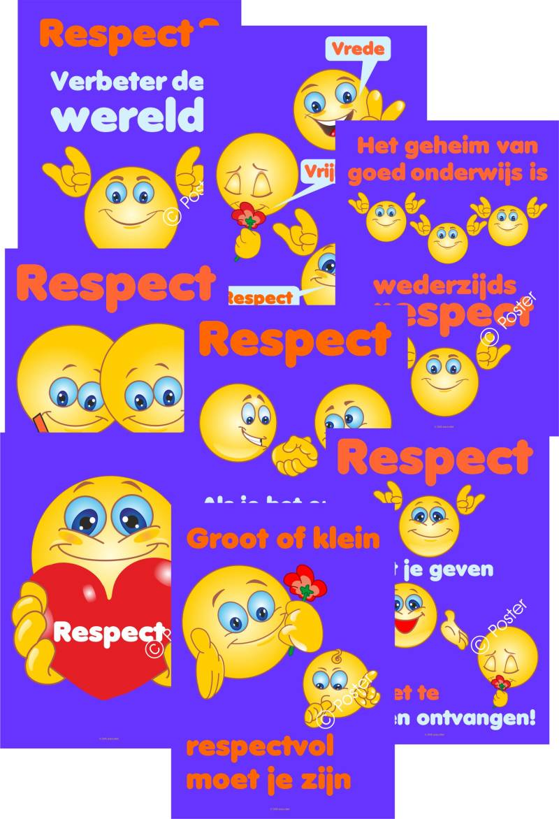 Posterpakket 'Respect - Smiley' A3