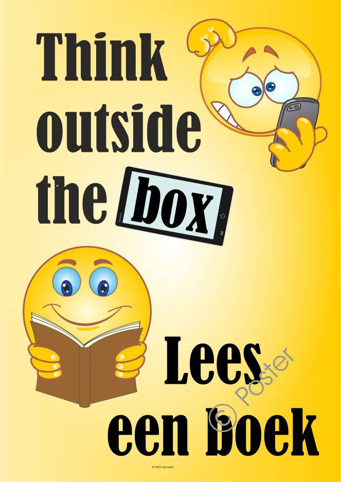 Lees poster 'Think outside the box' A3