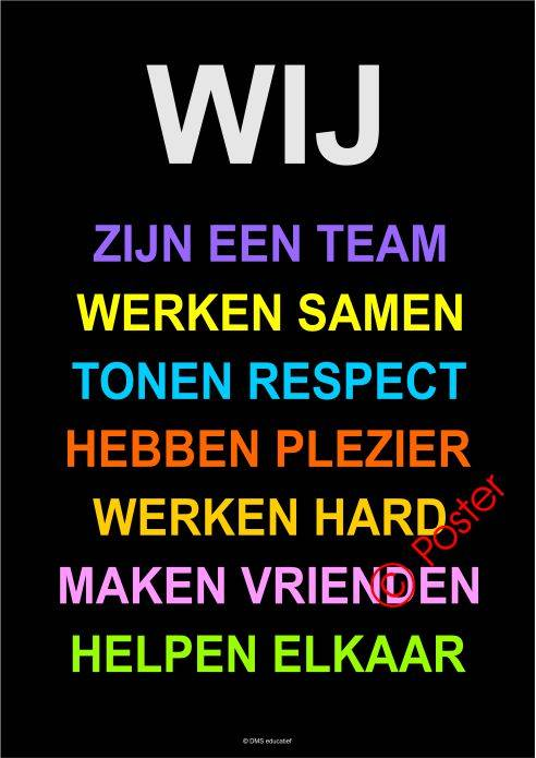 Poster 'Wij' A2