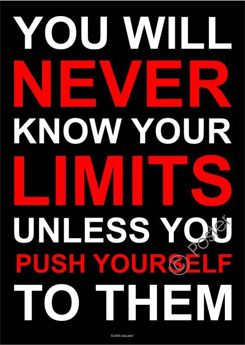Poster 'Push yourself to your limits' A3