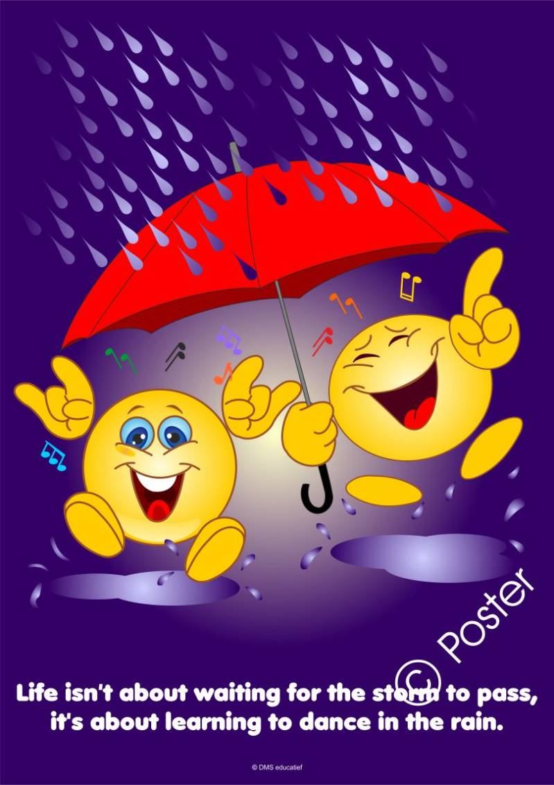 Poster 'Dance in the rain'  A3