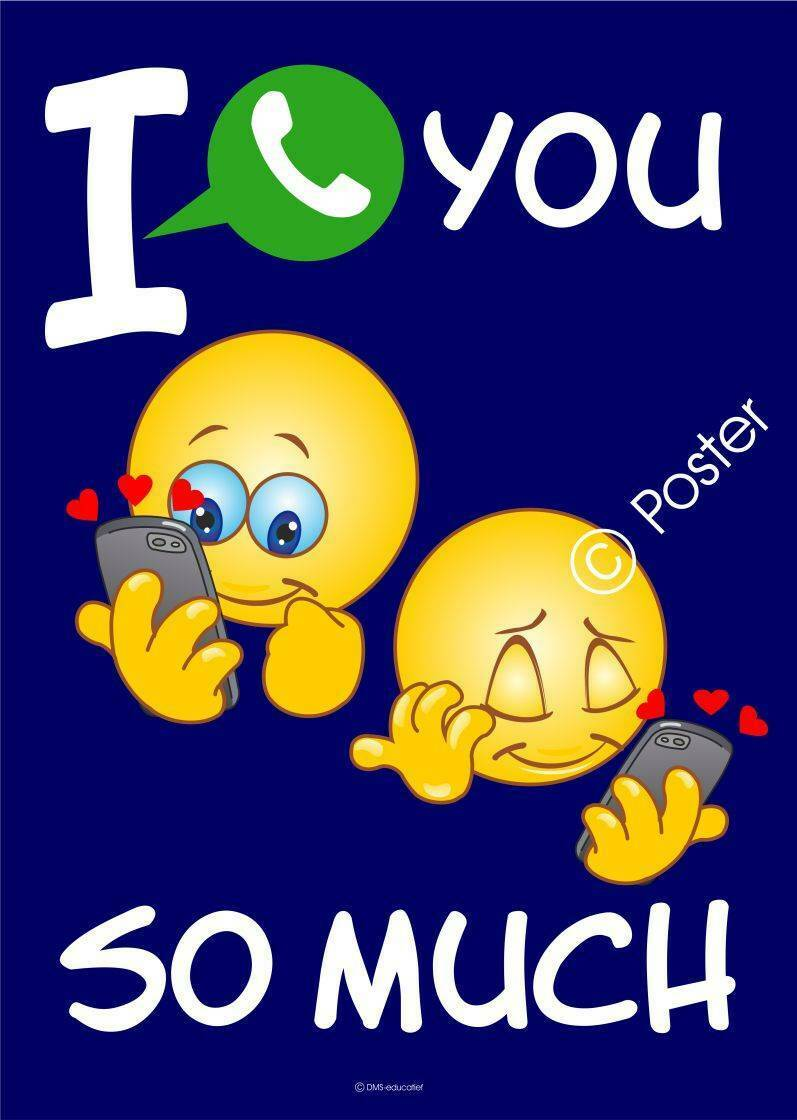 Poster 'I app you so much' A3
