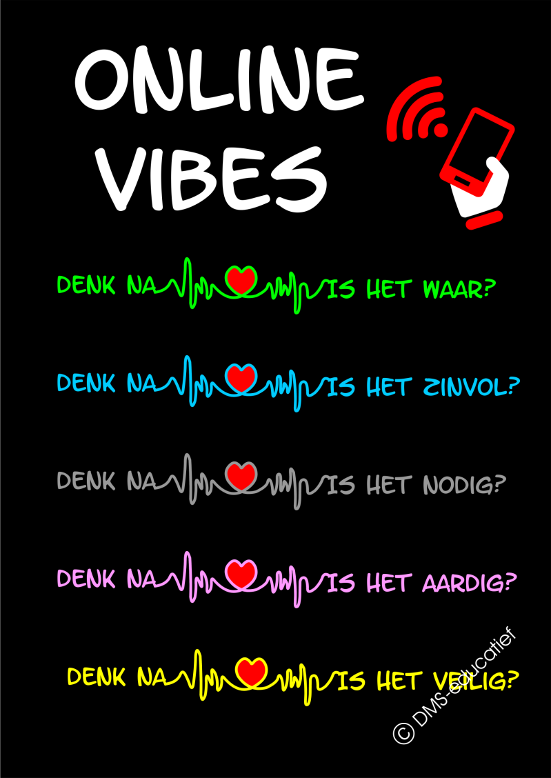 Poster 'Online vibes' A3