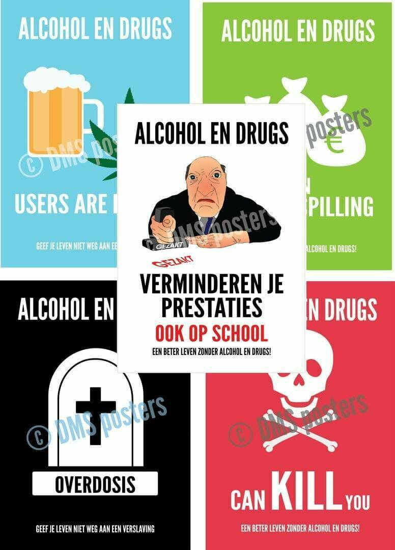 Posters over verslaving - A2