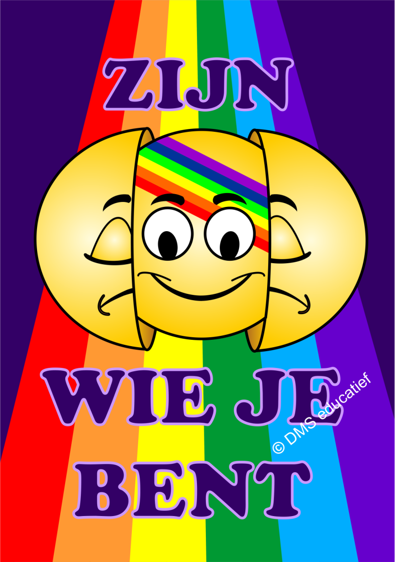 Poster 'Coming out - Zijn wie je bent' A1