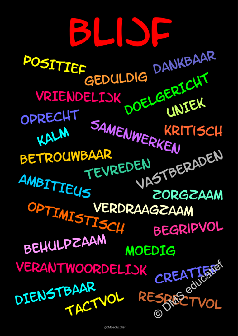 Poster 'Blijf' A3