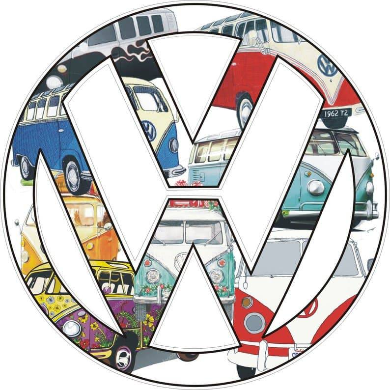 VW auto sticker