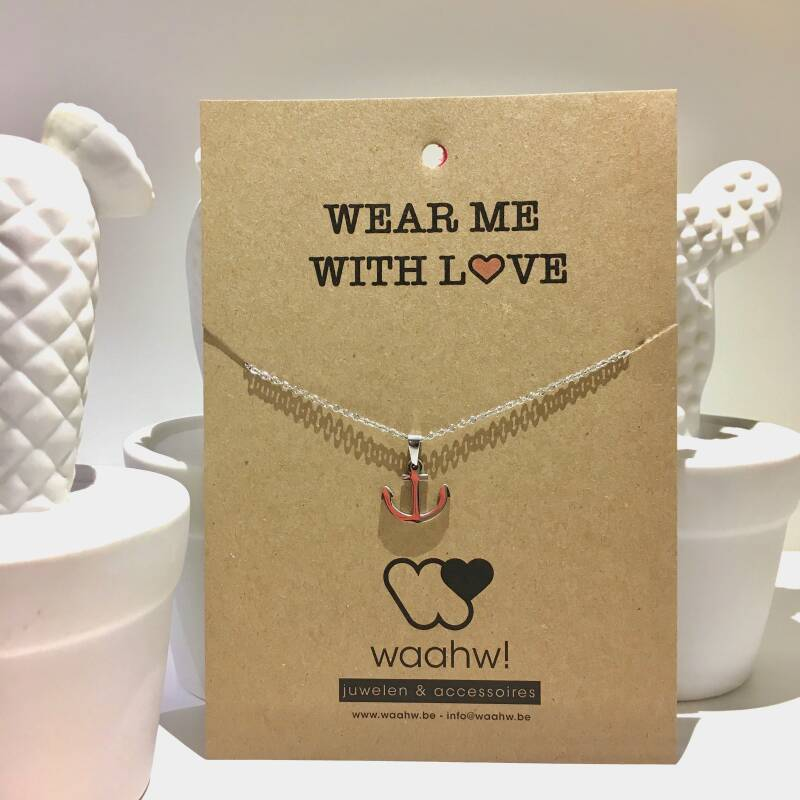 Ketting zilver rvs anker