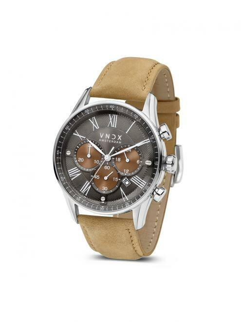 The Boss Two-Tone met beige leren band