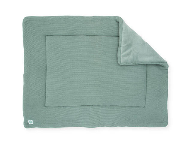 Boxkleed basic knit forest green 80x100 cm