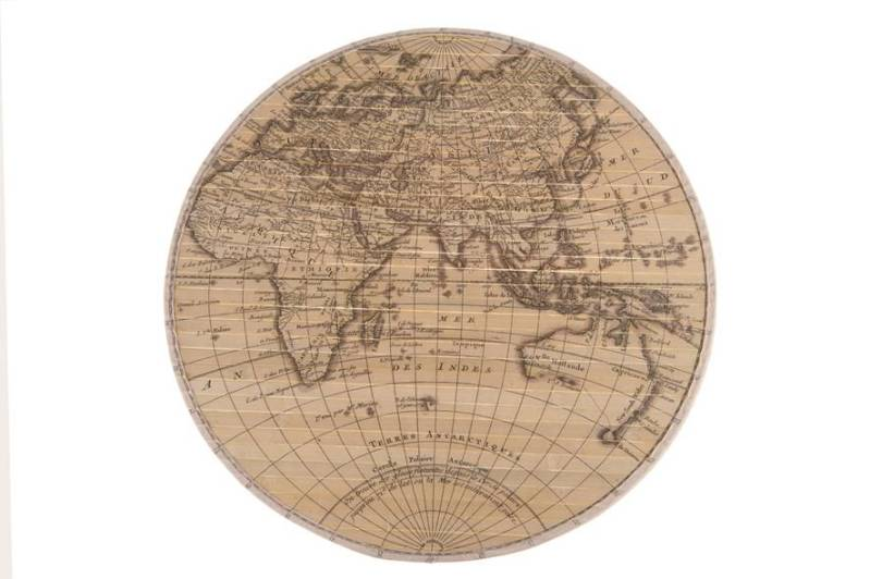 World map bamboo