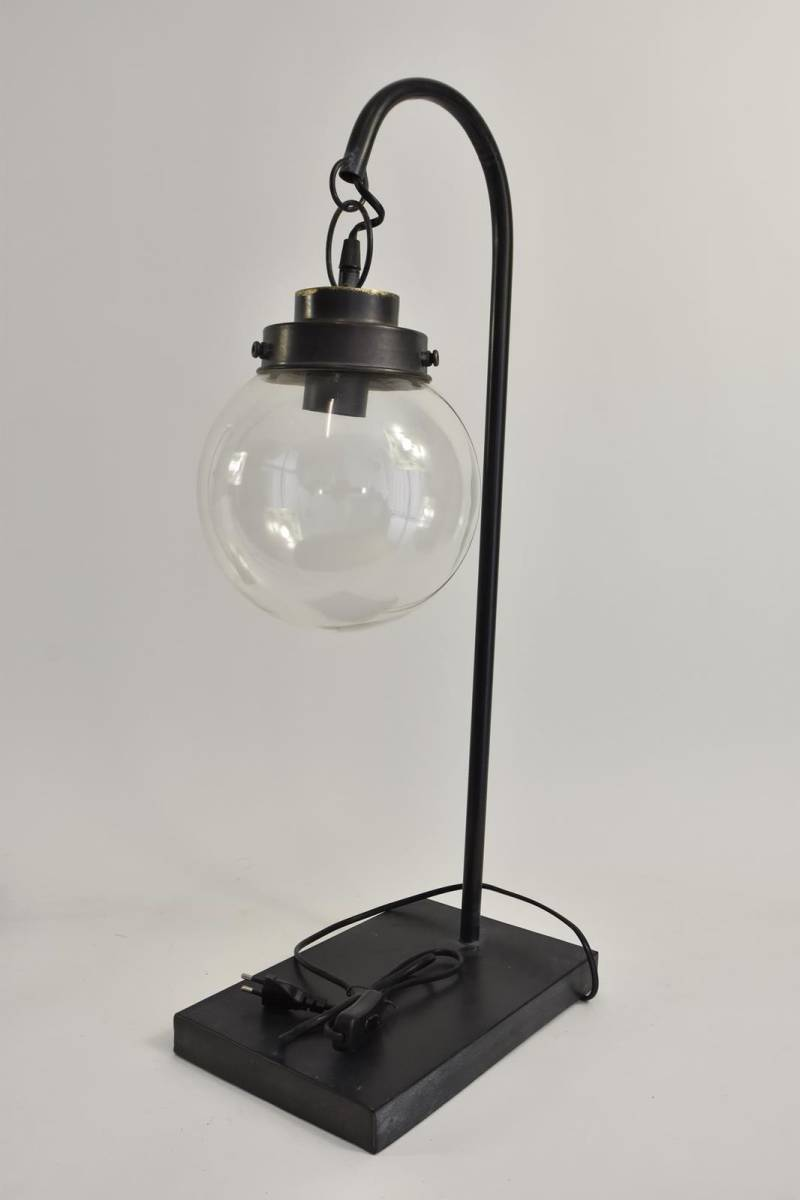 Lamp Table  Ant. Black