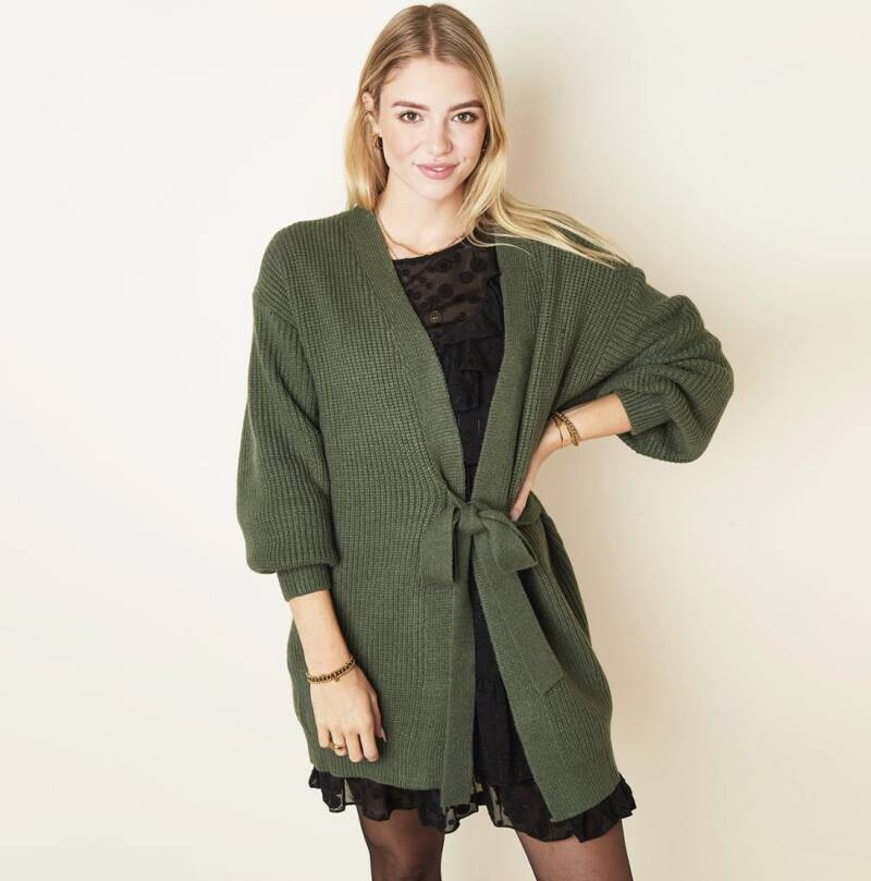 * Vest Cardigan Wrapped long