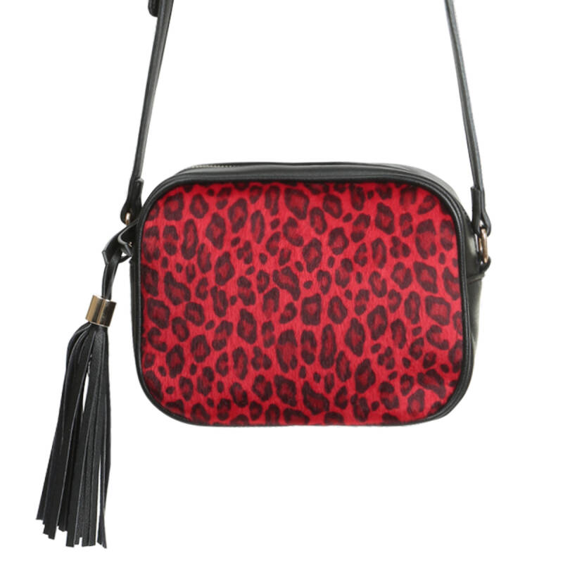 Tas The Icon leopard  rood