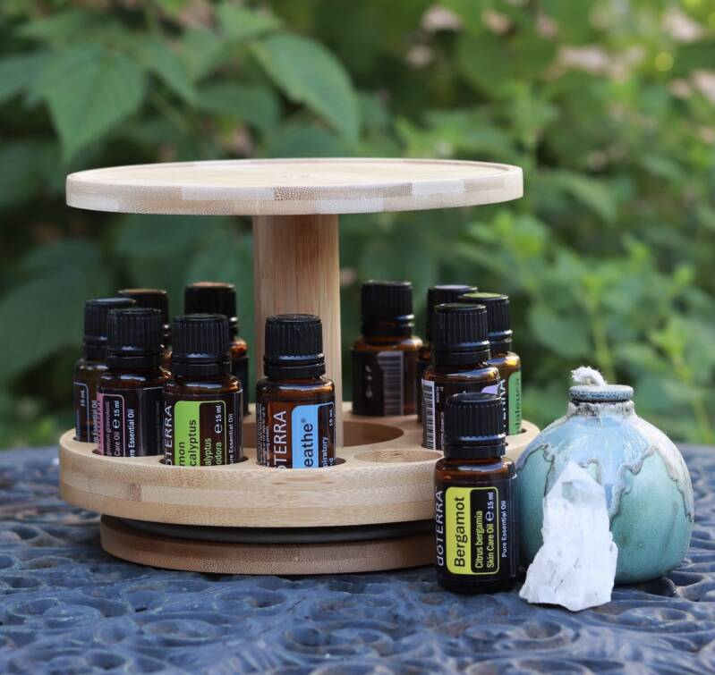 Bamboo Oil&Diffuser Display