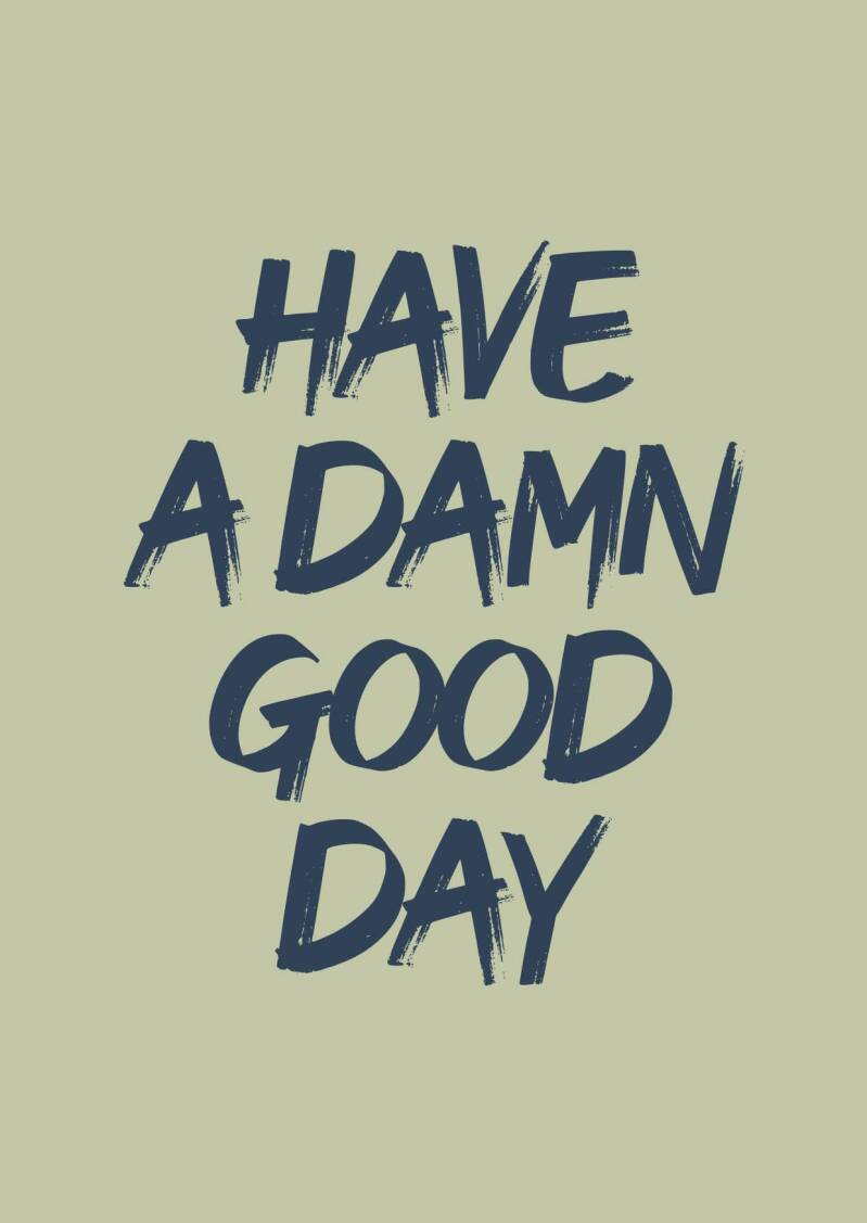 have a damn good day