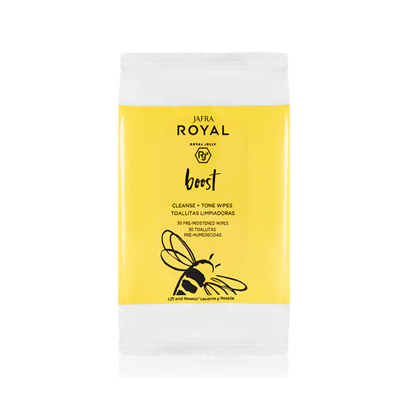2x ROYAL Boost Cleanse + Tone Wipes 60 sheets