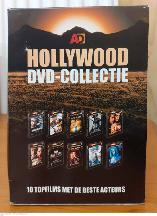 10 Hollywood Films, DVD box