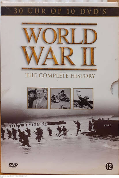 World War II, the complete history, nederlands ondertiteld, 30 uur op 10 DVD's