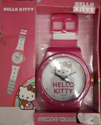 HELLO KITTY, jumbo klok