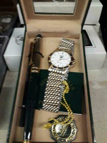 Horloge en luxe pen, set, Ralph Lauren, BEVERLY HILLS POLO CLUB
