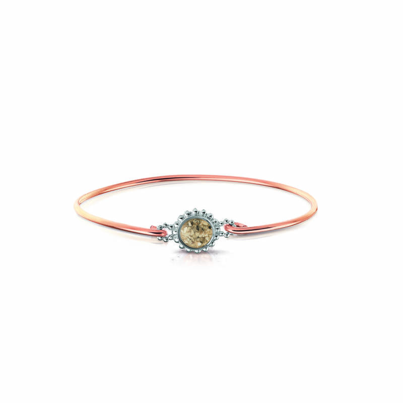 ROB 002 R Zilver/ Rose goud Armband