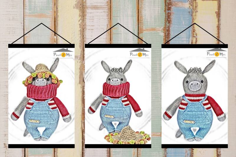 Donald * The Donkey * Poster A3/A4 * 3-Part