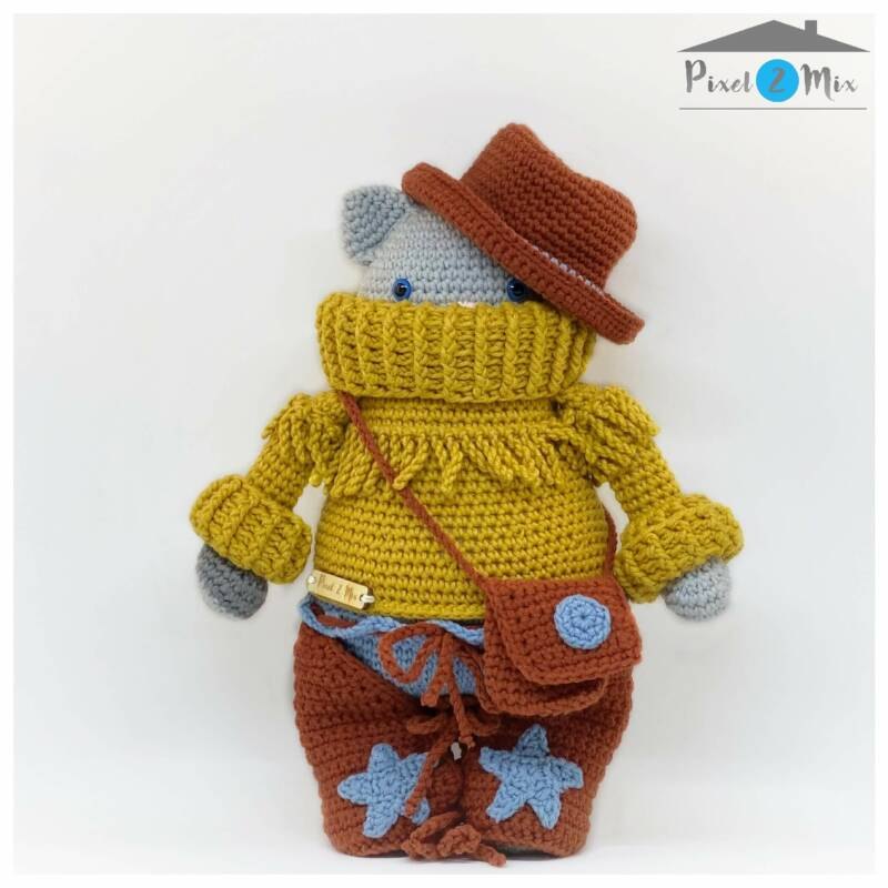 Harry * The Cowboy Tomcat * Crocheted Stuffed Toy