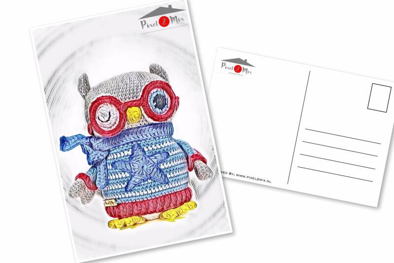 Orwin * The Little Owl with glasses * Postcard (1)