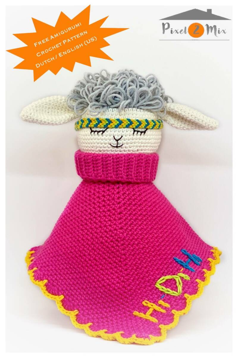 Samantha * The Sheep - Cuddly Blanket * A5 Booklet Crochet Pattern