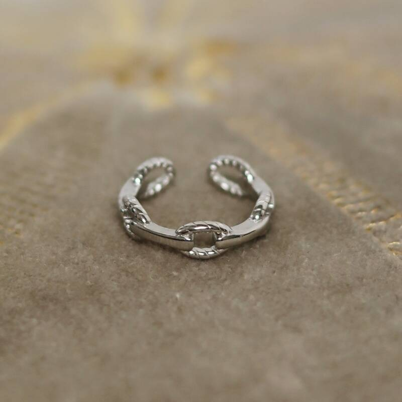 Silver link it ring