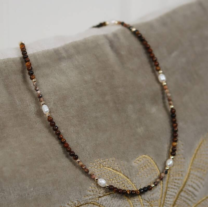 Small tigereye necklace