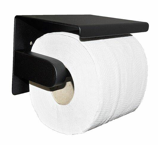 "Wiesbaden ""Brush"" toiletrolhouder Mat-zwart"