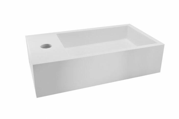 """Wiesbaden """"Maria-Links"""" fontein Solid Surface 40 x 22 cm Wit"""