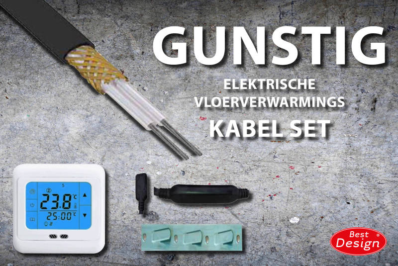 "Best-Design ""Gunstig"" vloerverwarmings kabel set 19 mtr 390 Watt"
