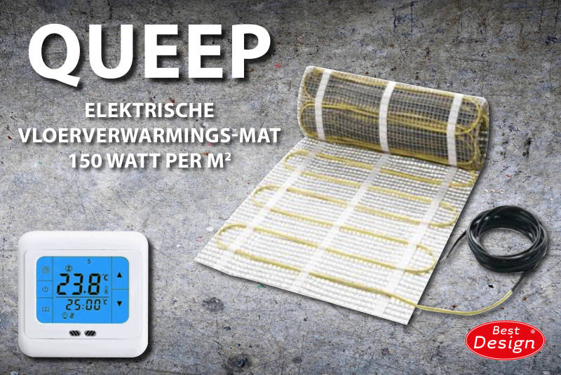 "Best-Design "" Queep"" elektrische vloerverwarmings-mat 8.0 m2"