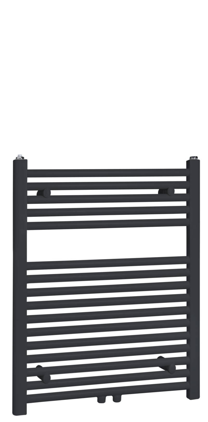"Best-Design ""Zwart-ral 9011 Zero"" radiator recht-model 770x600mm"