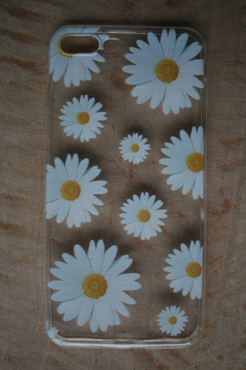 Telefoon hoesje, daisy transparent/white-yellow
